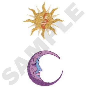 Iconic sun and moon symbols
