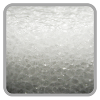 Hard Foam. It is used for structure only.