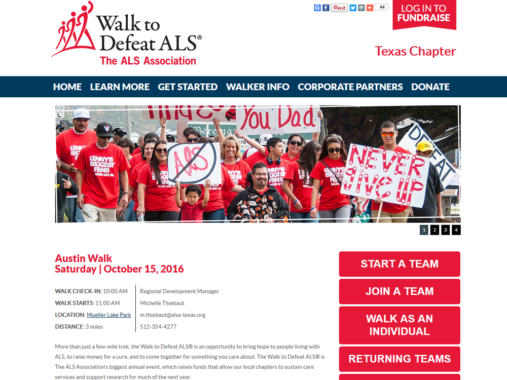Walk to Defeat ALS - Austin October 15th, 2016