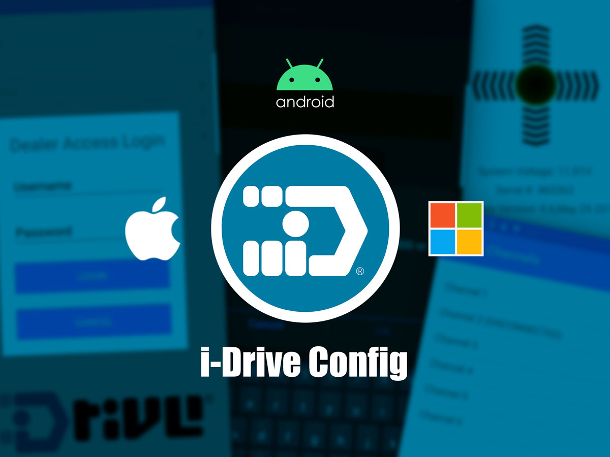 i-Drive Configuration App unified experience for Android, iOS and Windows
