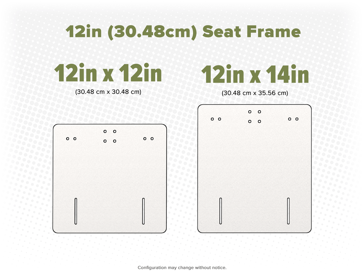 12in Frame Options