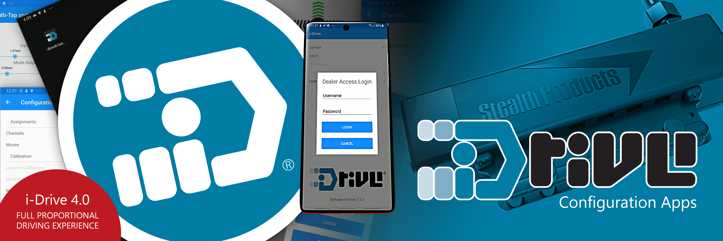 i-Drive Configuration Software for Android, iOS and Windows