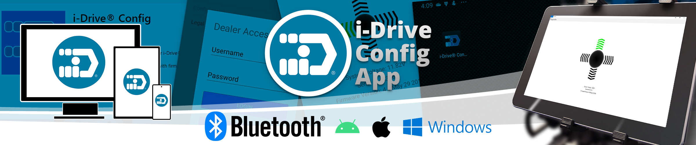 i-Drive Configuration App for Android, iOS and Windows.