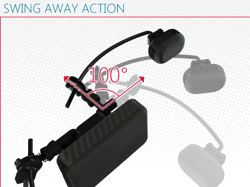 i-Drive Pro Swing Away - Convenient 100 degree swing away action