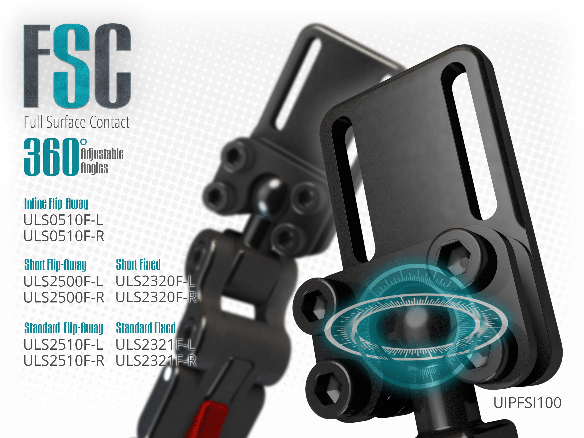 The FSC pad mount allows for more perfect fit to the user unique posture