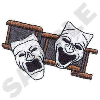 Traditional theater mask icons
