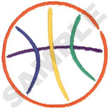 Basketball outlined with 5 colors