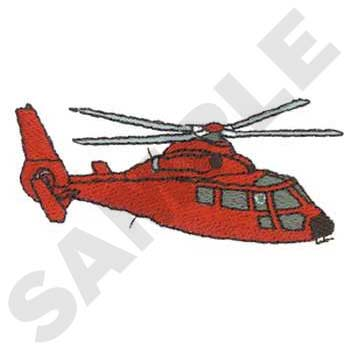 Red helicopter illustration